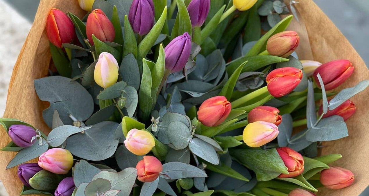 Bouquet di tulipani colorato